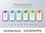 business infographic design...   Shutterstock .eps vector #1413456596