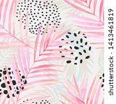 abstract summer seamless... | Shutterstock . vector #1413461819