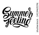 summer feeling hand lettering ...   Shutterstock .eps vector #1413463196