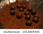chocolate truffle with copy... | Shutterstock . vector #1413469343