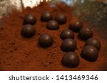 chocolate truffle with copy... | Shutterstock . vector #1413469346