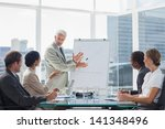 businessman in front of a...   Shutterstock . vector #141348496