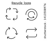 recycle icon set in thin line... | Shutterstock .eps vector #1413508976