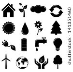 set of ecology icons | Shutterstock .eps vector #141351460