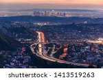 traffic in downtown los angeles ... | Shutterstock . vector #1413519263