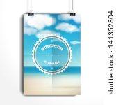 vector poster. the paper hangs... | Shutterstock .eps vector #141352804