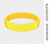 Gold Bracelet Icon. Cartoon...