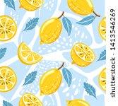 contemporary seamless pattern... | Shutterstock .eps vector #1413546269