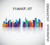 frankfurt skyline silhouette in ...   Shutterstock .eps vector #1413549083