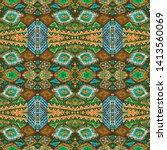 american pattern. ikat seamless ...   Shutterstock . vector #1413560069