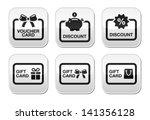 voucher  gift  discount card... | Shutterstock .eps vector #141356128
