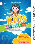 kids summer camp fest... | Shutterstock .eps vector #1413563240