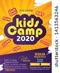 kids summer camp fest...   Shutterstock .eps vector #1413563246
