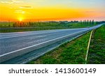 countryside rural sunset road... | Shutterstock . vector #1413600149