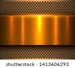 metallic background gold 3d... | Shutterstock .eps vector #1413606293
