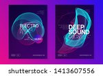 music flyer. dynamic gradient... | Shutterstock .eps vector #1413607556