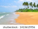 beautiful seascape. coconut... | Shutterstock . vector #1413615956