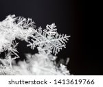 natural snowflakes on snow ... | Shutterstock . vector #1413619766