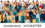 portrait of business team... | Shutterstock .eps vector #1413635789