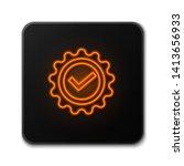 orange neon sign on dark...   Shutterstock .eps vector #1413656933