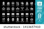 energy storage icon set on a...   Shutterstock .eps vector #1413657410