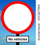 no vehicles except bicycles... | Shutterstock . vector #141367564