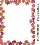 fall leaves border isolated on... | Shutterstock .eps vector #1413683639