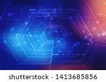 digital abstract technology... | Shutterstock . vector #1413685856