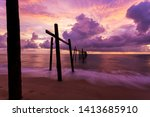 beautiful sunset dramatic sky... | Shutterstock . vector #1413685910
