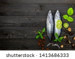 fresh skipjack tuna fish on... | Shutterstock . vector #1413686333