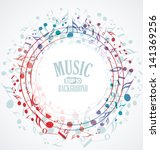 Vector Musical Background With...