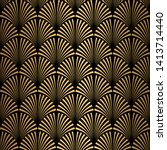 art deco pattern. seamless...   Shutterstock .eps vector #1413714440