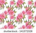 peonies seamless pattern   Shutterstock . vector #141372328