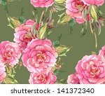 peonies seamless pattern | Shutterstock . vector #141372340