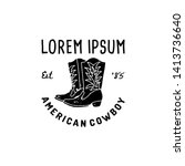 Western Logo American Cowboy...