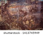 old and weathered rusty metal... | Shutterstock . vector #1413745949