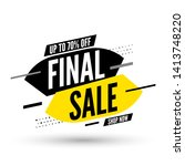 final sale banner on white... | Shutterstock .eps vector #1413748220