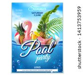 summer pool party poster....