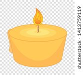 burning candle icon. cartoon...   Shutterstock .eps vector #1413759119