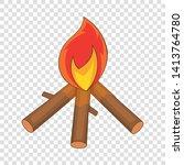 burning bonfire icon. cartoon...   Shutterstock .eps vector #1413764780
