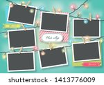template for photo collage... | Shutterstock .eps vector #1413776009