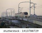 Small photo of NAGPUR MAHARASHTRA /INDIA -The Maharastra Metro Rail Corporation (Maha Metro) Started 1st Trial Run for Nagpur Metro Reach 3 on 30 May 2019, between Lokmanya Nagar and Subhash Nagar Metro Stations.
