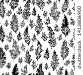 hand drawn vector pattern.... | Shutterstock .eps vector #1413806900