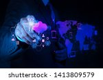 coding software developer work... | Shutterstock . vector #1413809579