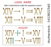 logic game for kids. puzzle... | Shutterstock .eps vector #1413822560