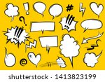 comic book text speech bubble... | Shutterstock .eps vector #1413823199