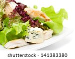 green salad with chicken and... | Shutterstock . vector #141383380