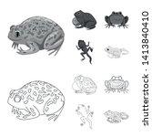 vector illustration of wildlife ... | Shutterstock .eps vector #1413840410