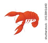 isolated object of lobster and... | Shutterstock .eps vector #1413841640