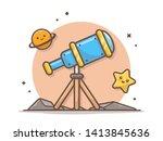 telescope education astronomy... | Shutterstock .eps vector #1413845636
